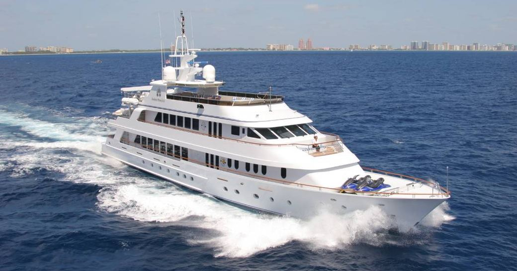 Luxury yacht 'Ionian Princess' underway