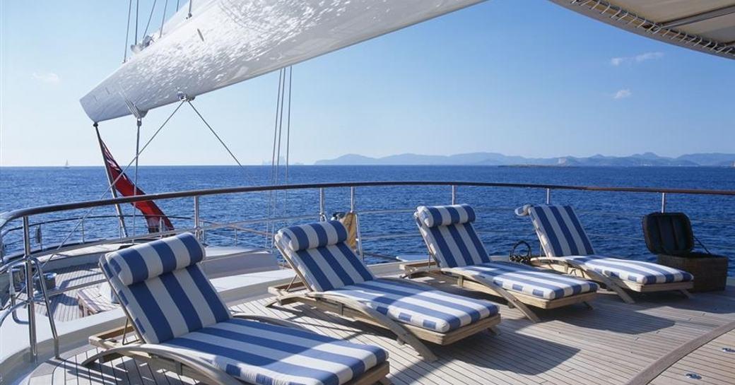 ATHENA's spacious sunbathing areas