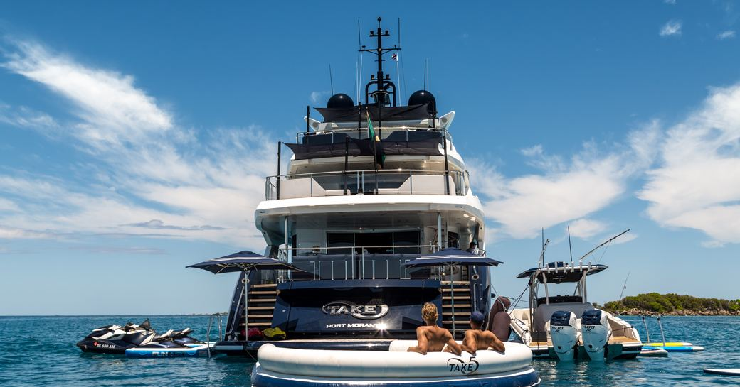 take 5 luxury yacht with toys and tenders