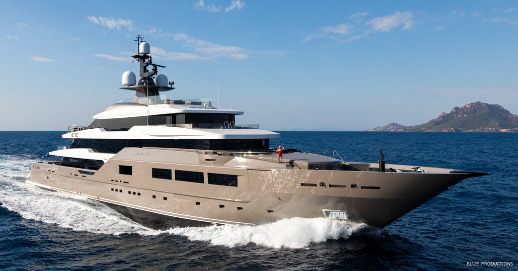 solo superyacht underway