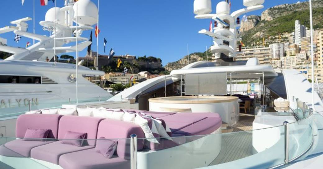 Charter yacht 'St David' at the Monaco Grand Prix