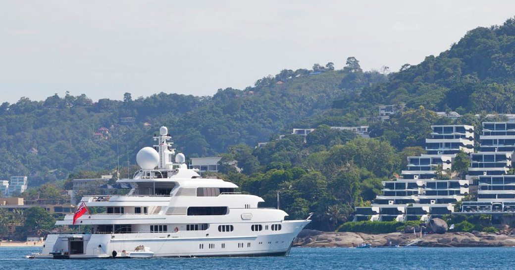 Charter Yacht Titania in Thailand with her new yacht mascot