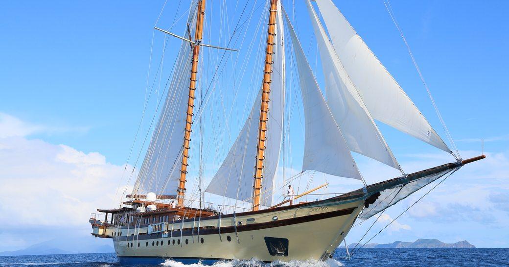 Sailing yacht Lamima underway