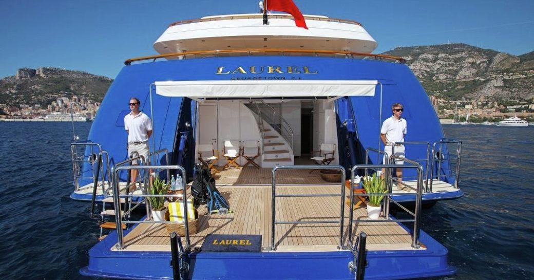Charter Yacht LAUREL's beach club