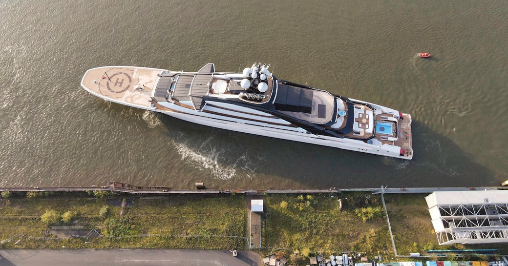 Superyacht NORD viewed from above