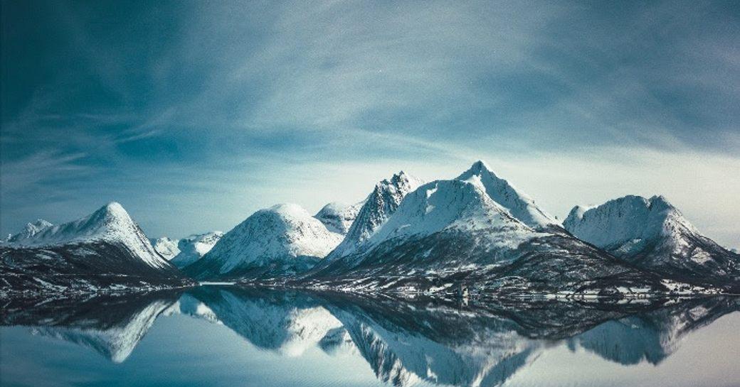 Frozen terrain in Antaractica