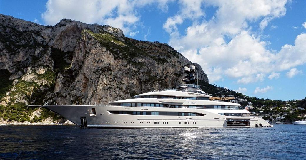Superyacht KISMET for charter at anchor