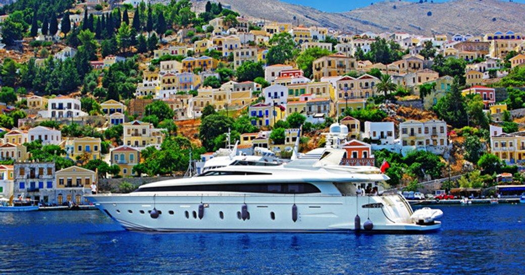 Motor yacht in Greek Waters