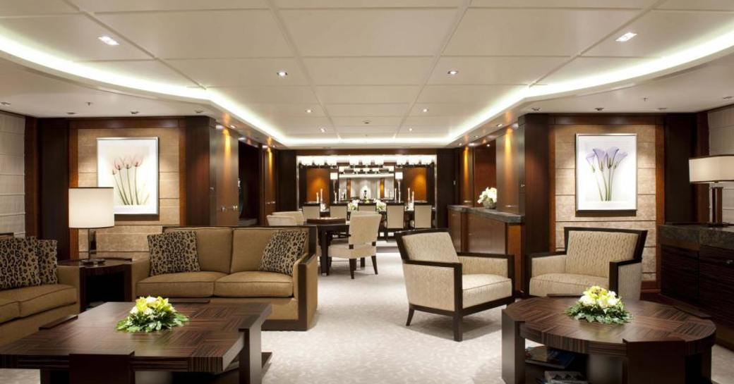 A social space for guests on their charter vacation
