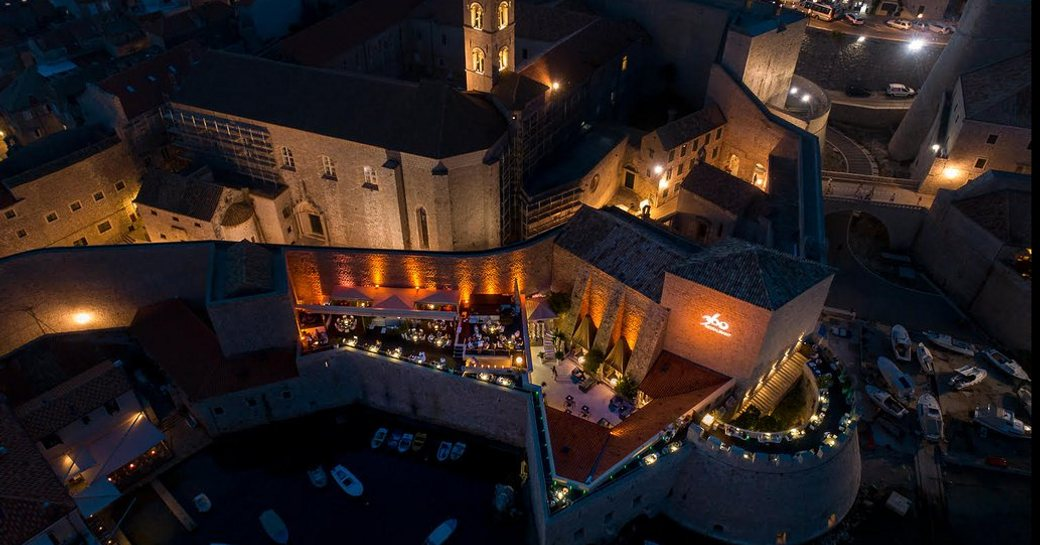 Views of Dubrovnik surround diners in Restaurant 360