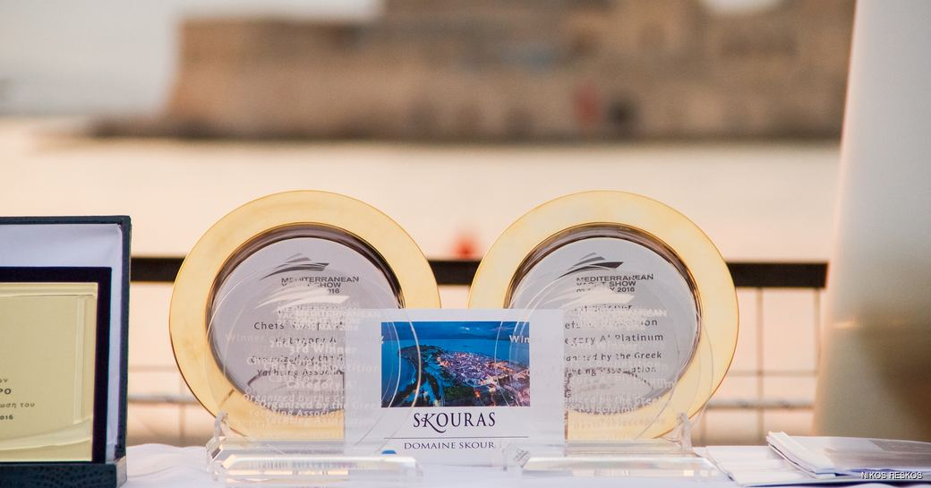 The prizes for the chefs at the Mediterranean Yacht Show 2016