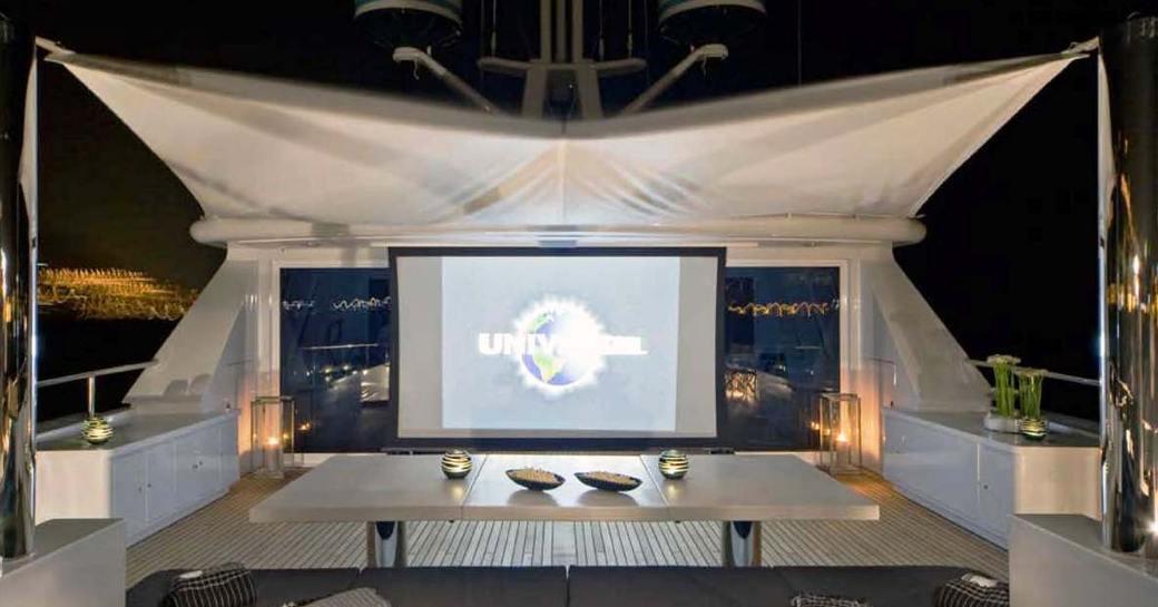 cinema motor yacht cyan