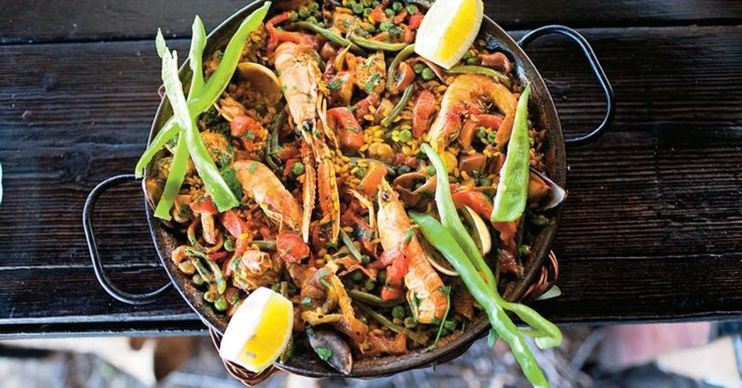 Paella dish at Sa Foradada