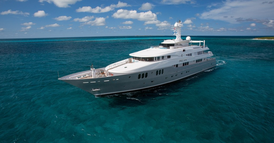 Charter Yacht Dream with new grey hull following refit