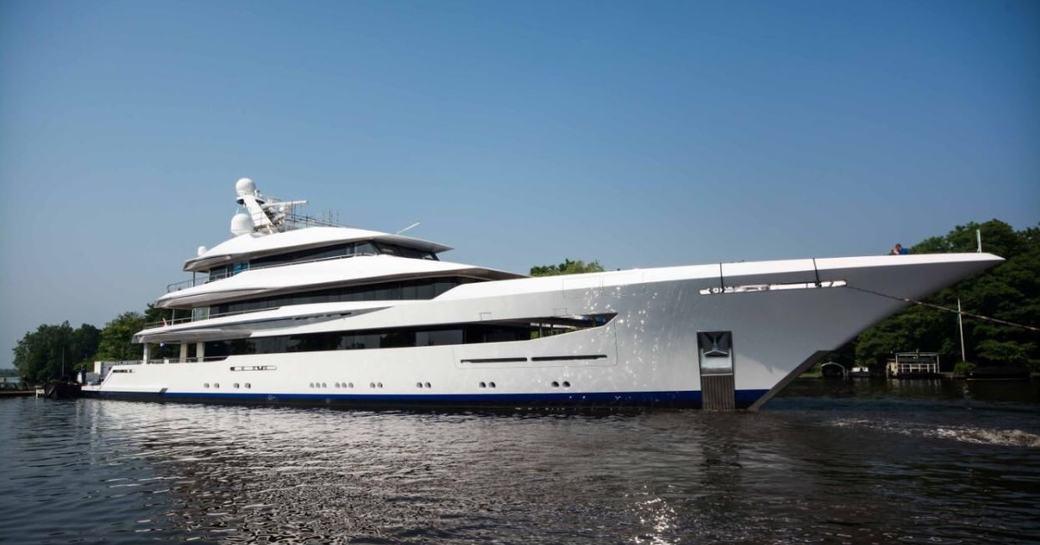 Feadship superyacht JOY at anchor