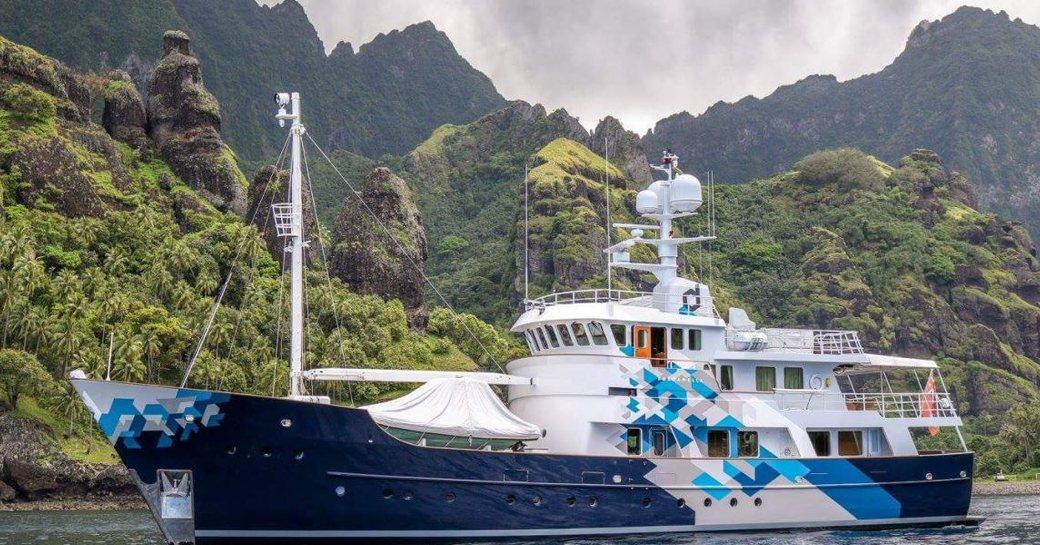 Explorer yacht DARDANELLA underway