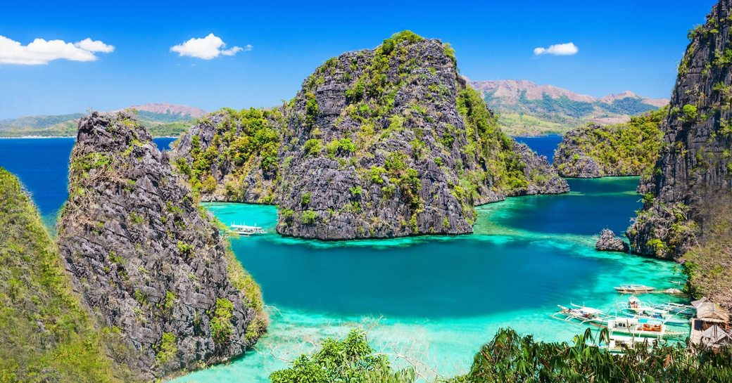 beautiful seascape of El Nido on Palawan Island in the Philippines