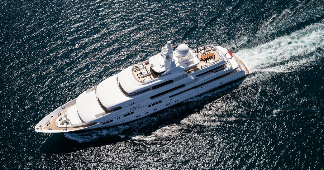 motor yacht TITANIA cruising on a luxury yacht charter in South East Asia