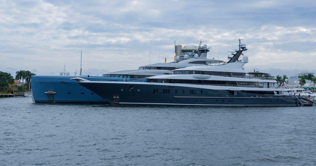 Superyachts at berth at FLIBS 2018