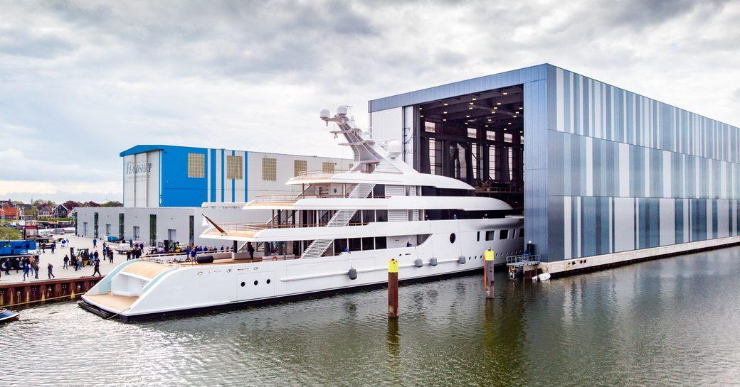 Feadship launch yacht BLISS