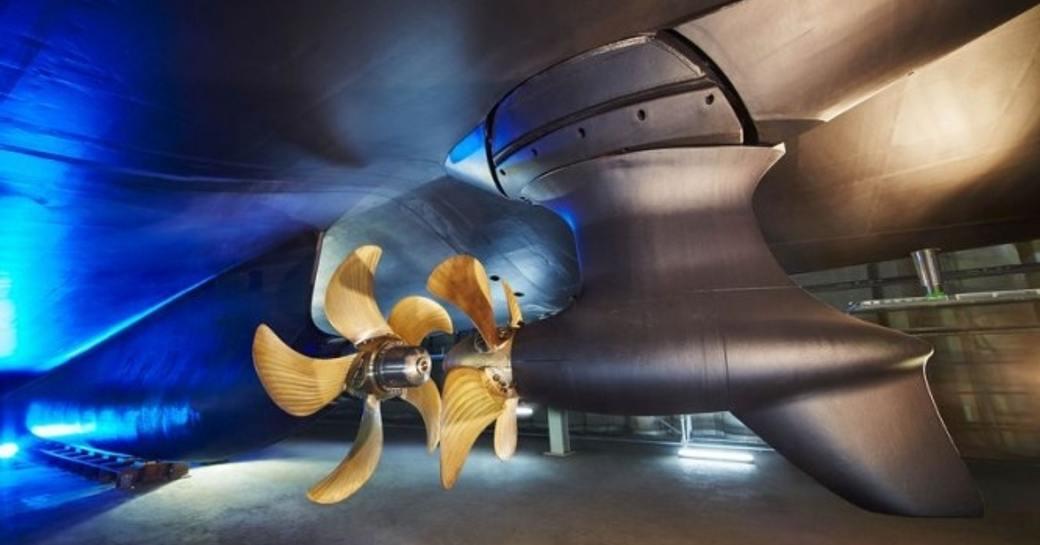 world's first hybrid superyacht, 83.5m Feadship SAVANNAH's propellers