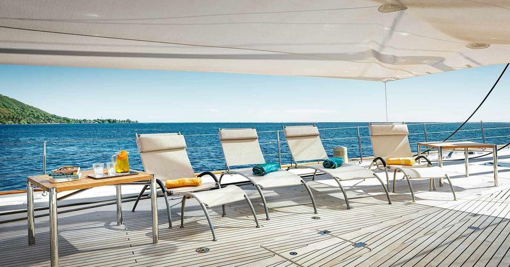 Enjoy views of the South Pacific coastlines on board MONDANGO 3