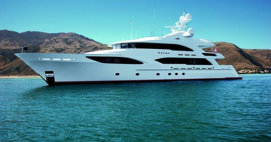 Superyacht KATYA sat at-anchor