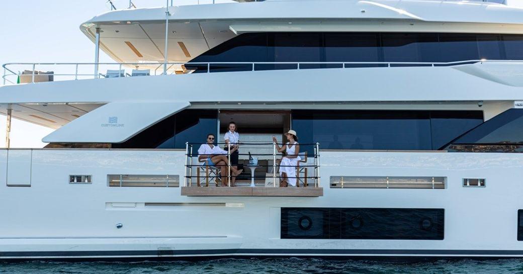 luxury yacht penelope with side opening balconies