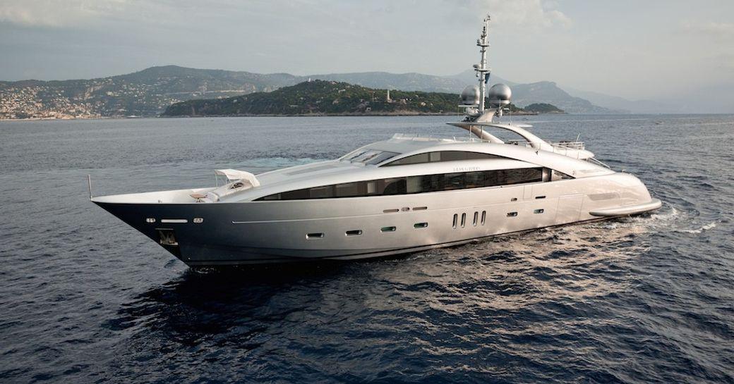 motor yacht 'Silver Wind' cruising in the Mediterranean