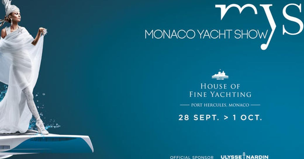 A promotional poster for the Monaco Yacht Show 2016