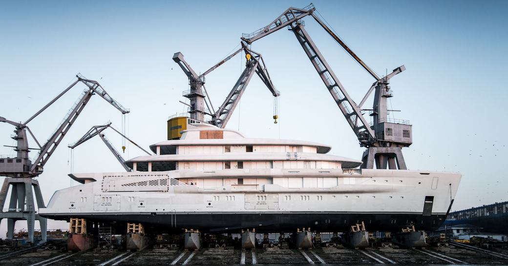 Launched: Largest fully-custom Amels  yacht hits the water photo 2