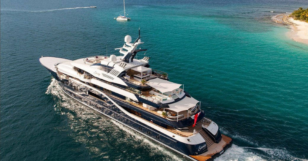 Motor yacht Solandge on charter in the Caribbean