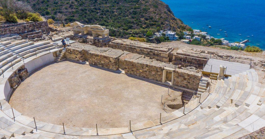 Roman amphitheater on Greek island