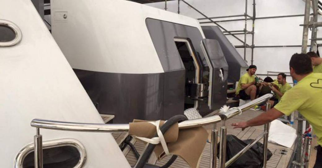 Behind The Scenes Of Charter Yacht TURQUOISE's Refit photo 1
