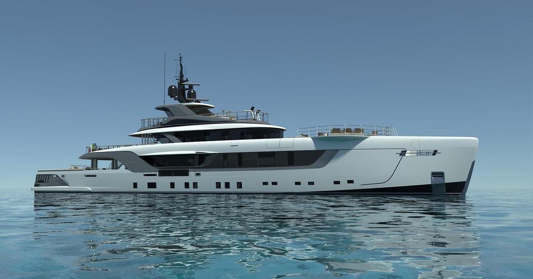 superyacht geco underway in the Mediterranean