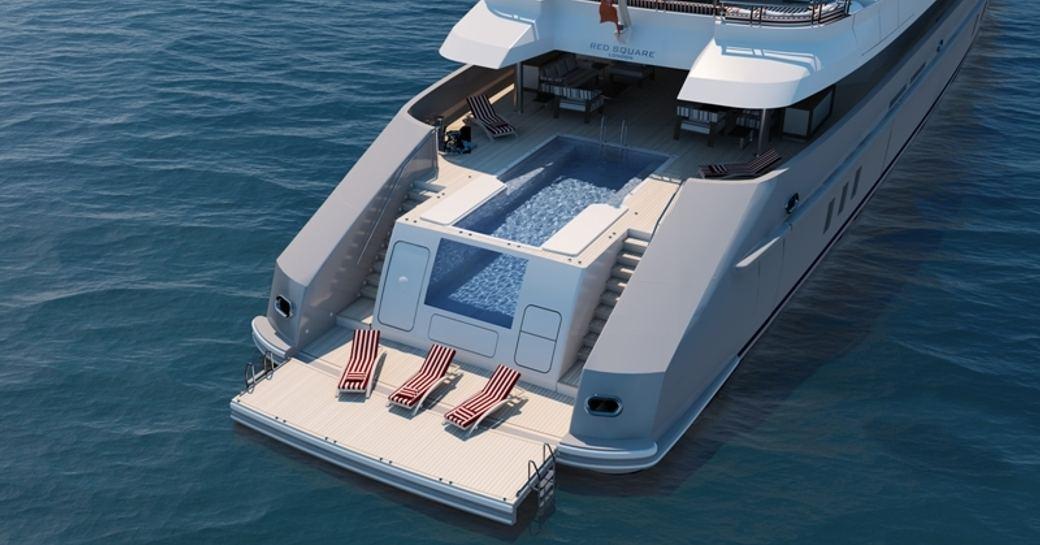Beach club on Superyacht Axioma