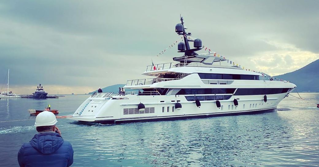 sanlorenzo superyacht lady lena during launch