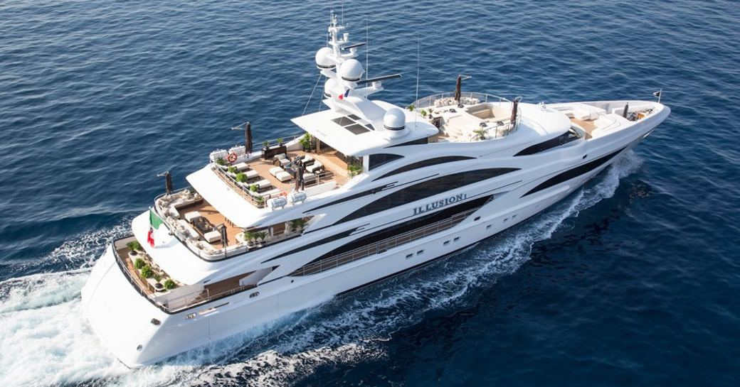 superyacht 'Illusion V' available for charter in the Bahamas