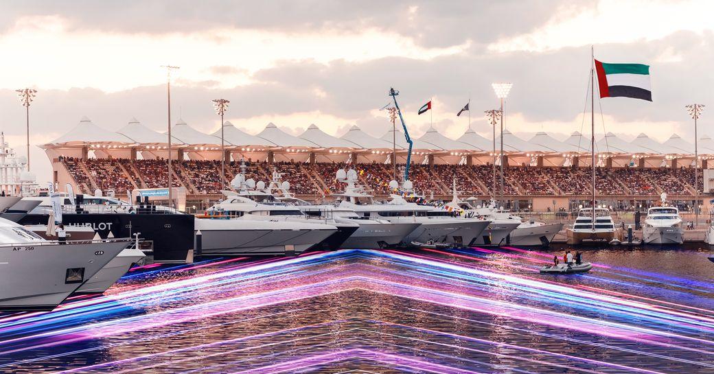 Yachts moored in Abu Dhabi