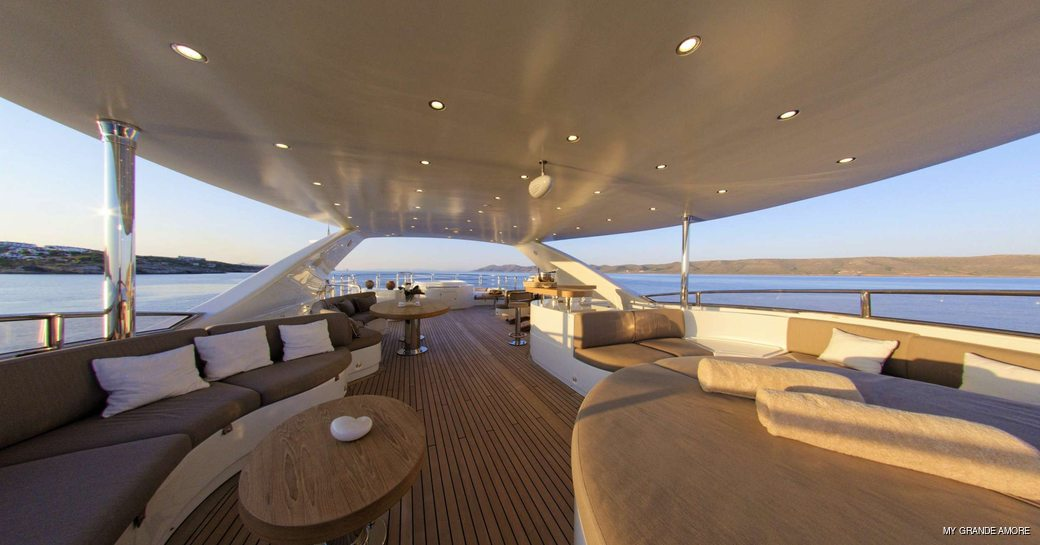 Bridge deck onboard MY Grande Amore