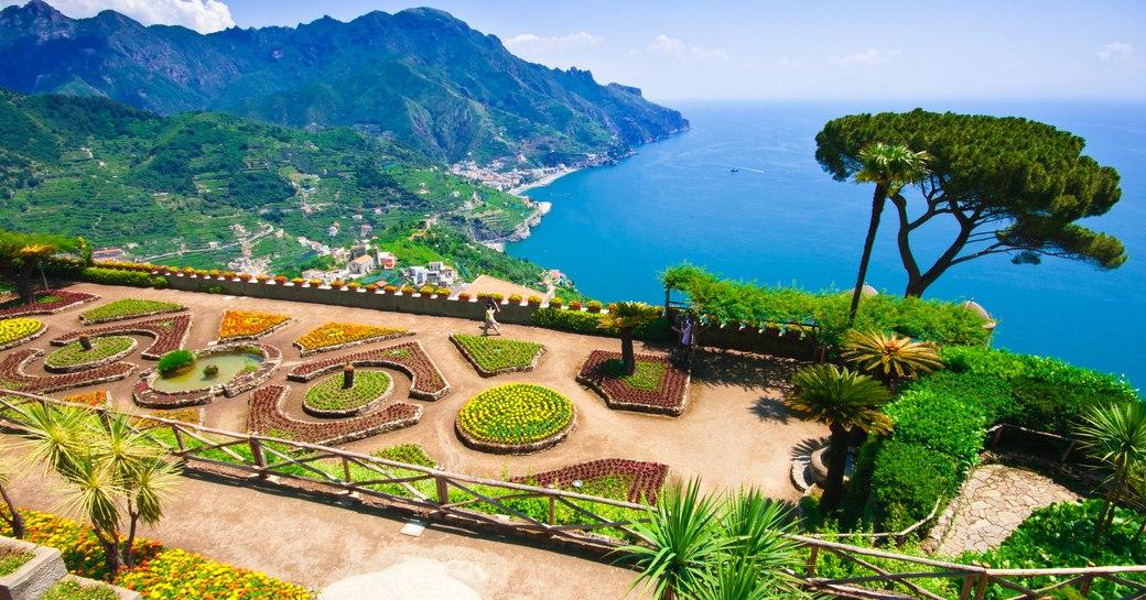 Gardens of Villa Rufolo in the Amalfi Coast town of Ravello