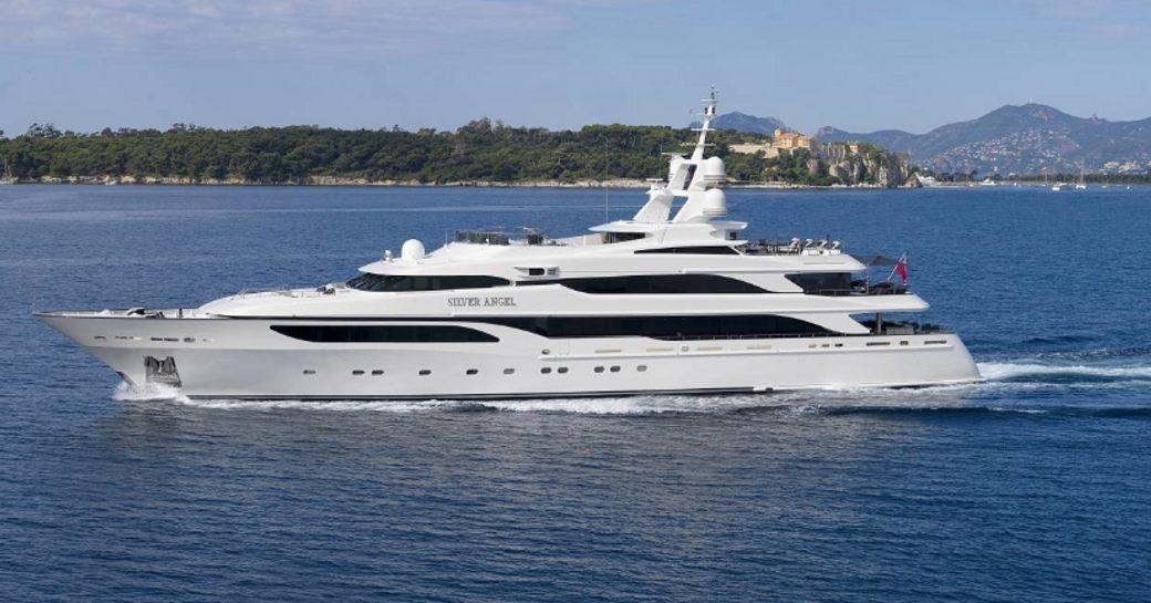 Superyacht 'Silver Angel' cruising