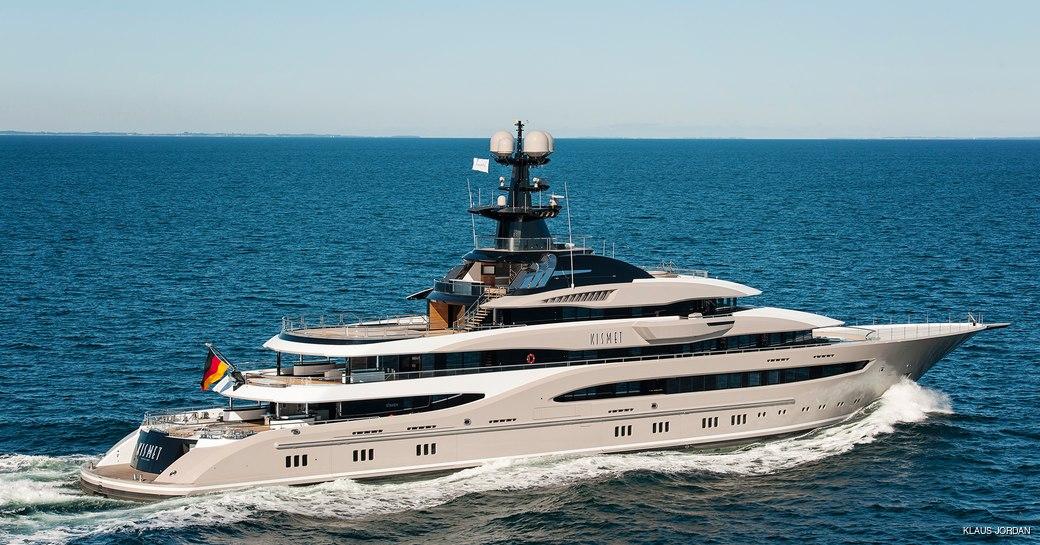 Superyacht KISMET undergoing sea trials in August 2014
