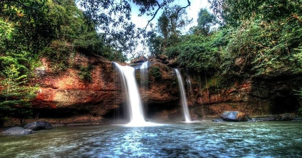 A waterfall in Khao Yai National Park, Thailand