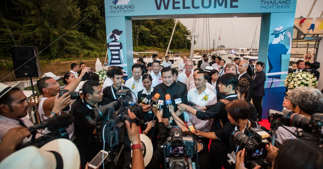 media interviews following the opening of the Thailand Yacht Show 2016