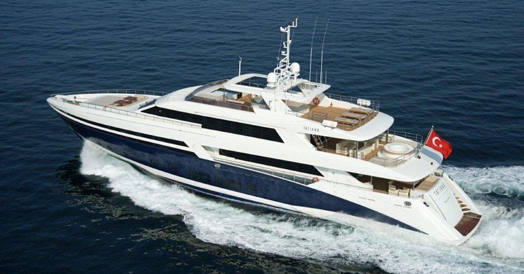 superyacht TATIANA cruising on a luxury charter in the Mediterranean