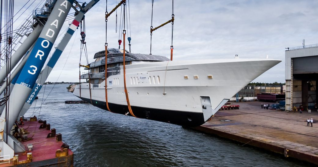 Feadship superyacht Project Galina, formerly Feadship 819, now ready for outfitting photo 2