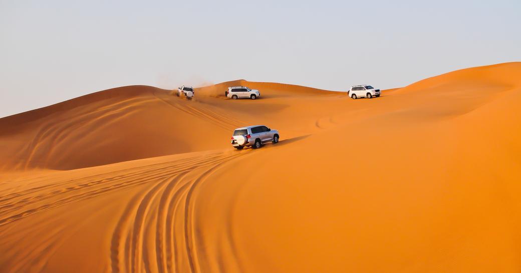 4WD safari in the desert outside of Abu Dhabi