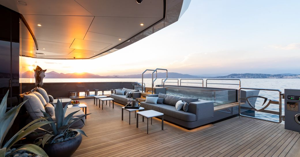 SOLO infinity pool on main deck aft