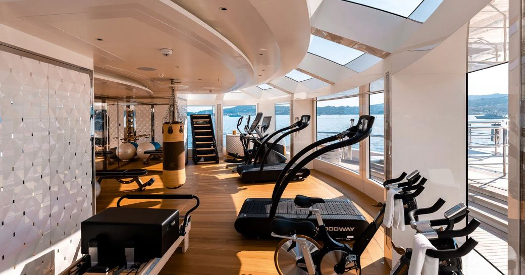Gym onboard MY Lady S
